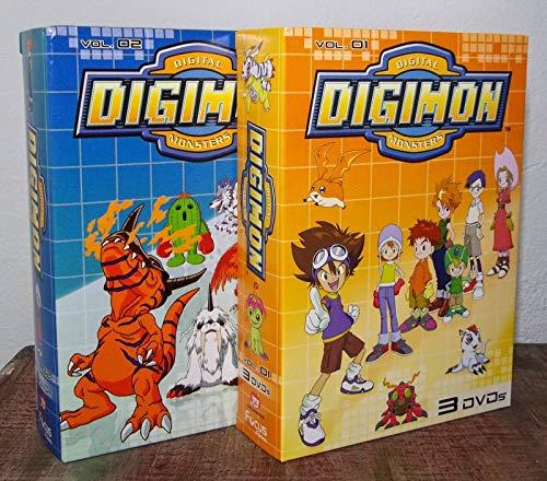 Digimon DVD Box Volume 1 e 2 (6 dvds)