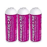 REPORSHOP - 3 Botellas Gas Ecologico Refrigerante Freeze Organico +32 350Gr Sustituto R32, R410A