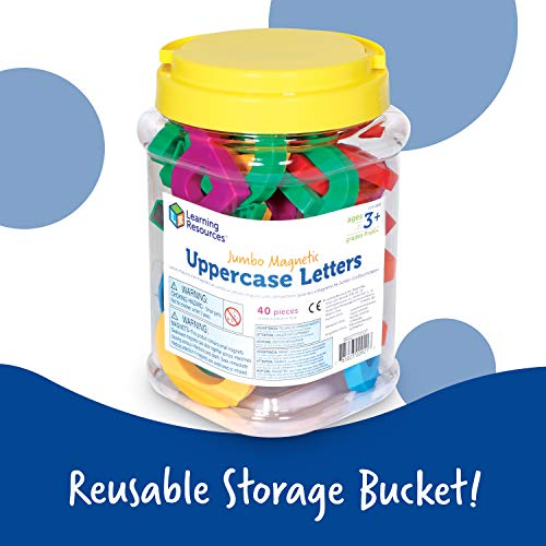 Learning Resources Jumbo Magnetic Uppercase Letters, ABCs, Early Letter Recognition, 40-Pieces, Large Magnetic Letters, Assorted Colors, Ages 3+ Photo #7