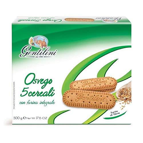 3 x 500 g Gentlinini Galletas Ovego 5 cereales con harina integral