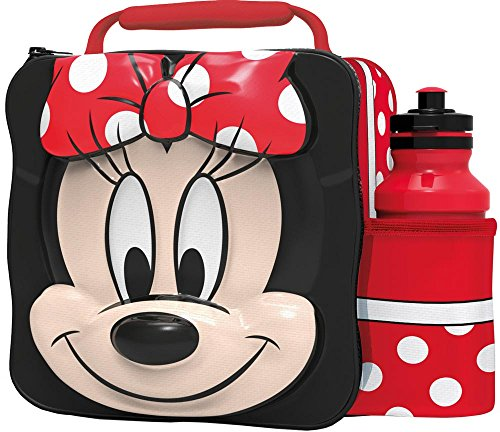 Borsa termica porta pranzo con personaggi Marvel 3D Multicolore Minnie Mouse
