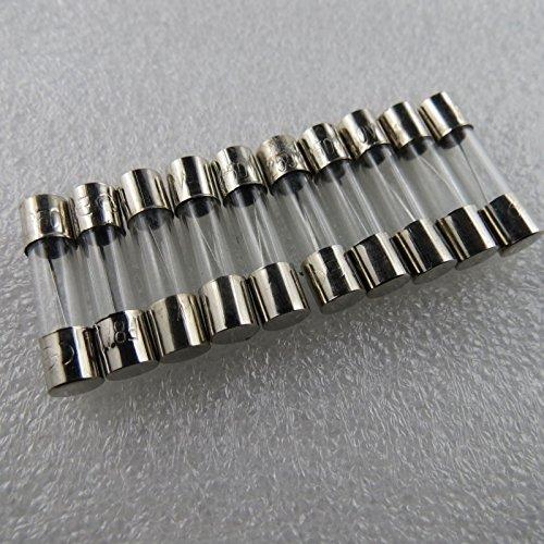 Preisvergleich Produktbild Unbekannt 10 Stück Feinsicherung Glassicherung Flink 20mm 8 A Sicherungen 8A