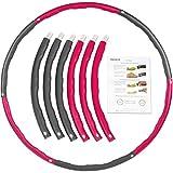 ONVAYA® Hula Hoop - Cerchio fitness per adulti | Rosa | Pneumatici fitness per Hula Hoop | Hula Hoop da rimuovere | Peso 1,3 kg | Design ondulato per effetto massaggiante
