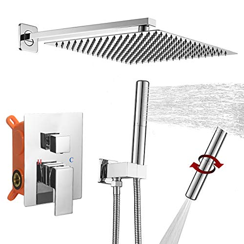 BESy Shower System with 12 Inch Rain Shower Head...