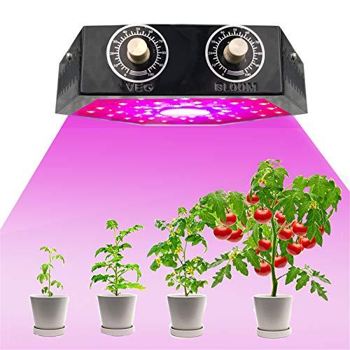 ZMHS LED Plant Grow Light Lamp, 1000W COB Full Spectrum Adjustable Dual Switch Veg Bloom, for Indoor Seeding Flower Vegetable Phyto Lamp