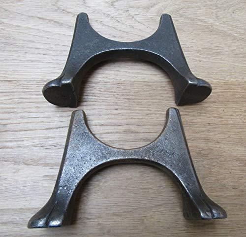 IRONMONGERYWORLD® - Patas de hierro fundido estilo victoriano estilo antiguo rústico para radiadores reclinables