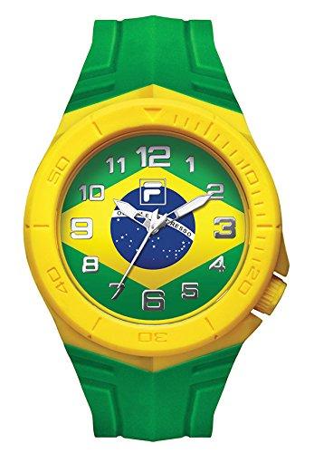FILA Unisex-Armbanduhr Fan Sport 38-072-002 FILACASUAL Brasilien Fahne Fanartikel