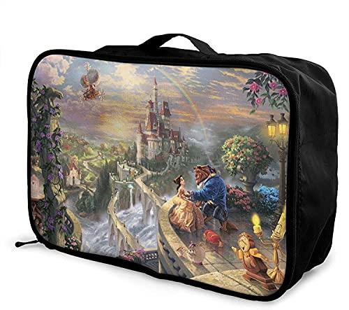 Beauty Beast - Borsone da viaggio, pieghevole, alla moda, leggero, di grande capacità, portatile, borsa da viaggio per viaggio o viaggio