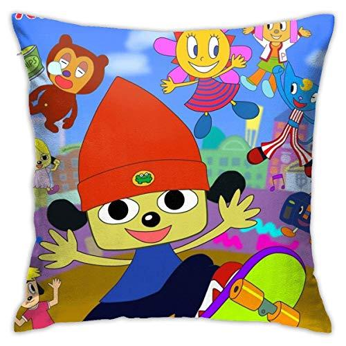 WH-CLA Pillow Cover Parappa The Rapper Anime Poster Fundas De Cojín para Sofá Dormitorio Impreso 45X45Cm Interior De Cojín De Coche con Cremallera Fundas De Almohada De Sofá De Anime Fund