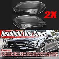 W204車のフロントヘッドライトの光レンズシェルレンズカバーフィット感のためのメルセデスベンツCクラスW204 2DR / 4DR 2011年から2014年ヘッドライトレンズカバー ヘッドライトカバー