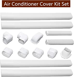 SEAL Air Conditioner Decorative PVC line Set Cover kit, Durable Air Conditioning Tubing Cover for Air Conditioner and Heat Pump Systems (Air-Conditioner-Cover-Kit 4 Pipes)
