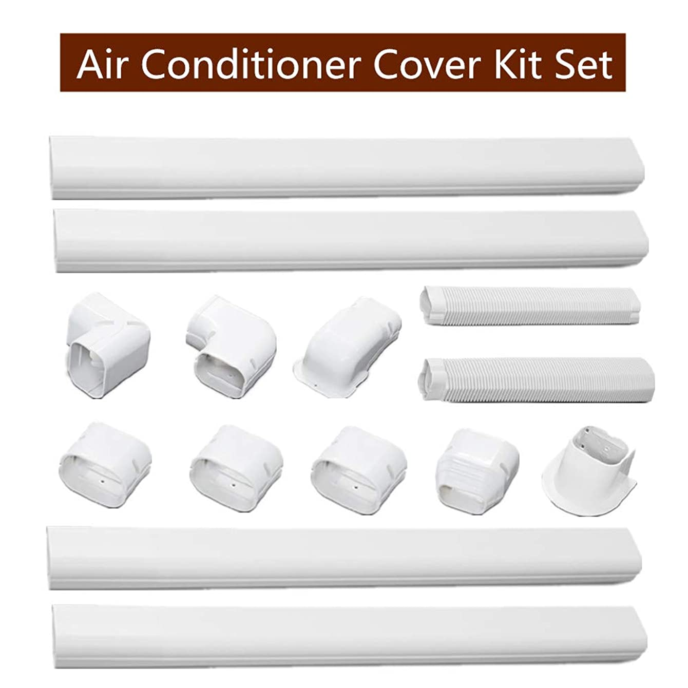 SEAL Air Conditioner Decorative PVC line Cover kit, Durable air Conditioning Tube Slot for Mini Split air conditioners and Heat Pumps