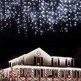 LANFU LED Iciclelights,1216LEDs,98.4ft,8Modes,Curtain Fairy String Light Plug in...