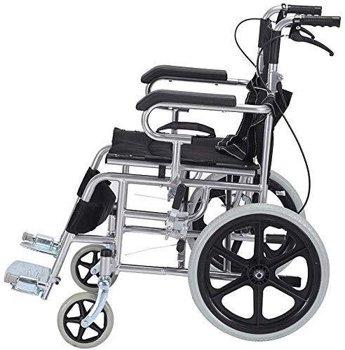 XQY Aufladerollstuhl, Rollstuhl Rollstuhl Faltbarer, Leichter Und Leicht Zu Transportierender Alter Personenwagen-Roller 20In Vollgummireifen, Älterer Rollstuhl,B