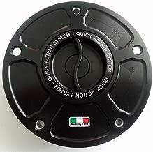 TWM Quick Action CNC Billet Fuel Gas Cap with Black Handle fits Ducati ST2 ST3 ST4 748 916 996 998 848 1098 1198 MONSTER