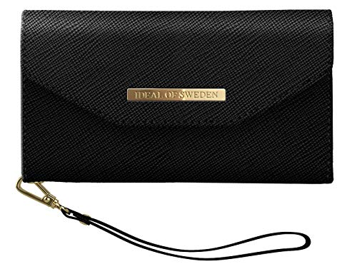 iDeal Of Sweden Mayfair Handytaschen Clutch für iPhone 11 (Saffiano Vegan Leather) (Black)