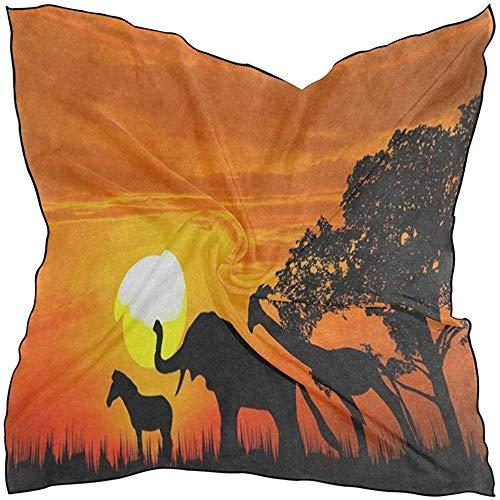 Regan Nehemiah Sjaal Oranje Alpaca Cactus Dames Vierkante Zijde Sjaals Sjaal Wikkel Meisjes voor Vrouwen