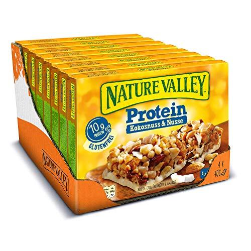 Nature Valley Protein Kokosnuss Nüsse, 8er Pack (8 x 160 g Multipack mit je 4 Proteinriegeln)