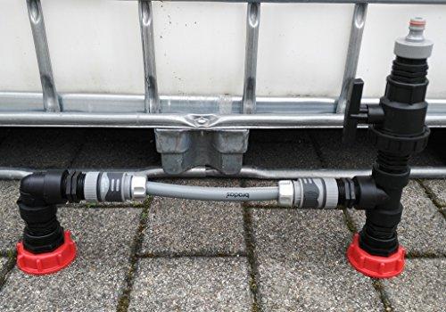 CMTech GmbH Montage Technik cks2146 * 2 Prises – Tank Raccord S60 x 6 avec raccord Rapide Récupérateur D'eau de Pluie IBC