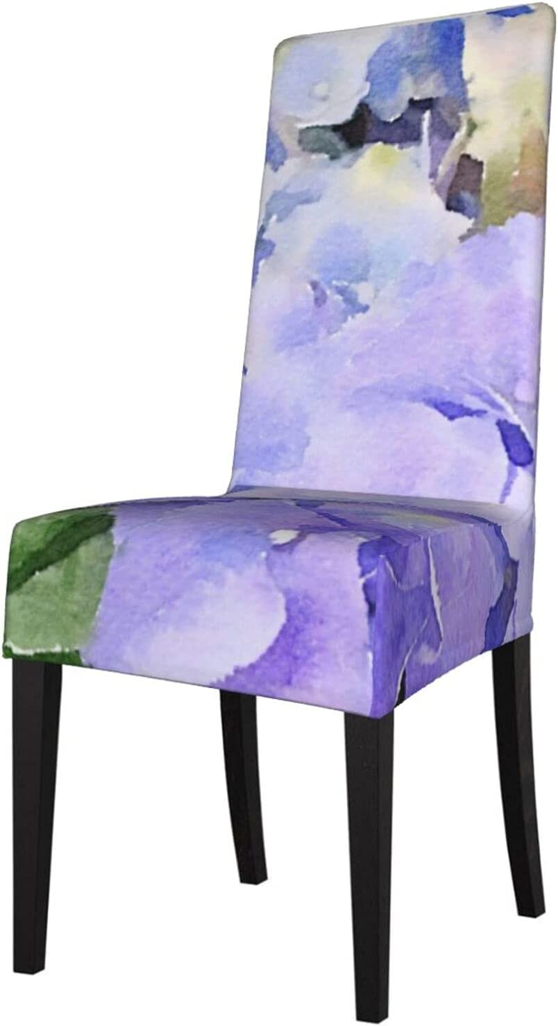 QUAVZI 2PCS Stretch Chair Sale Covers Blue Dining Industry No. 1 Hydrangeas Room for