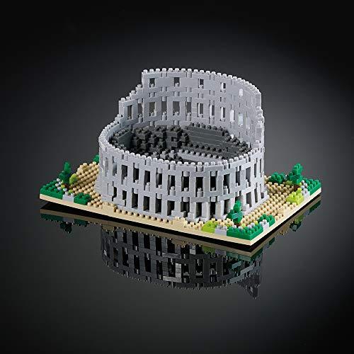 Brixies 410132–Colosseo Roma, Puzzle 3D, Italy Edition, 896Pezzi, Livello di difficoltà: 5per esperti, Multicolore