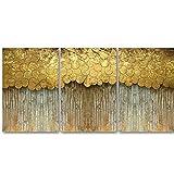 Póster de círculo geométrico dorado abstracto arte de pared moderno impresión en lienzo pintura para sala de estar imágenes de decoración del hogar nórdico sin marco-40x50cmx3