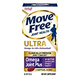 Move Free Ultra Omega, 30 softgels - Joint Health Supplement with Omega-3 Krill Oil and Hyaluronic Acid (Pack of 4)
