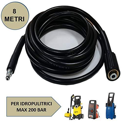 Parpyon® - Manguera hidrolimpiadora Annovi Reverberi - Black Decker - Stanley Tubos, alargador, sonda accesorios para hidrolimpiadoras de agua fría Max 160 Bar + paño Parpy (AR330)