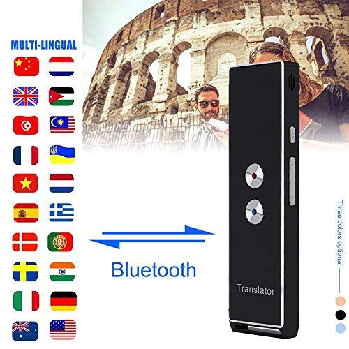 Diyeeni Tragbarer Übersetzer Gerät mit 40 Sprachen, Intelligente Sprachübersetzer in Echtzeit Zwei Weg Sprache Unterstützt Fotografieren Übersetzung Bluetooth 4.2 für iOS Android Geräte