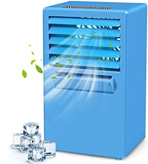 RPLW Personal Evaporativo Aire Acondicionado,Aire Acondicionado Humidificador,Silencioso Mini Climatizador Evaporativo,Aire Acondicionado Portátil A 14x10x24cm(6x4x9inch)