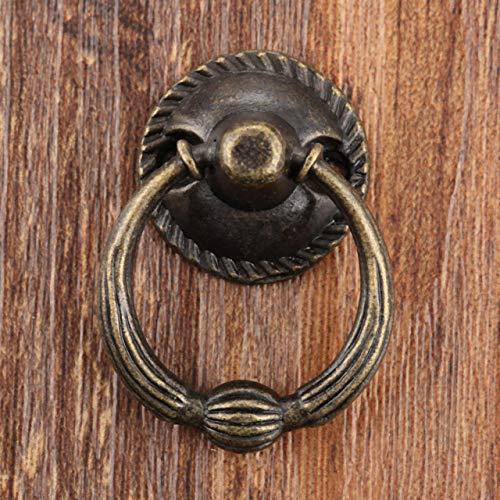 Pioremetalen keuken ladekast deurklink meubelknoppen hardware kast antiek messing ring handgrepen, 51x38x31mm