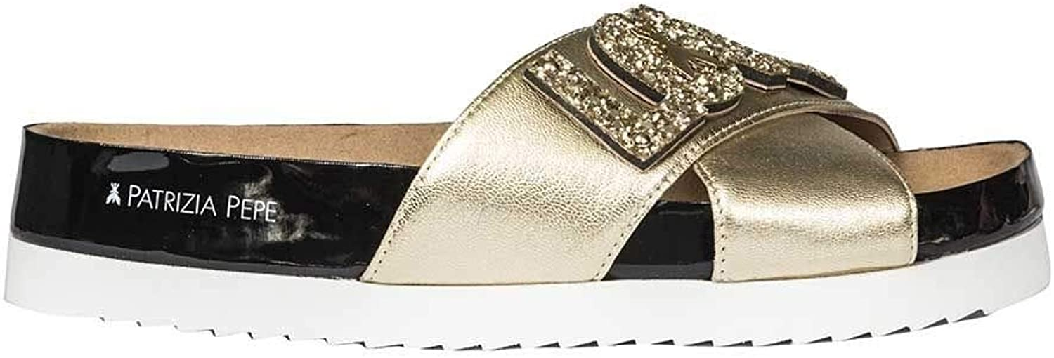 Patrizia Pepe Women's 2V8068A3GJY336 gold Leather Sandals