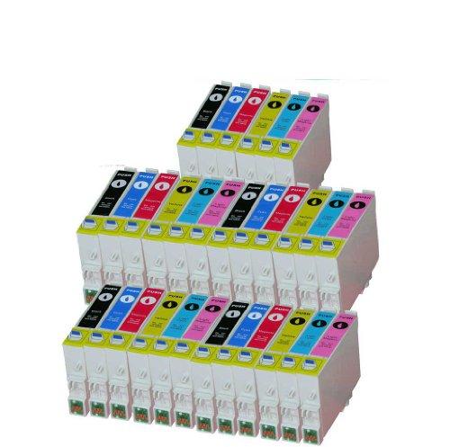 Premium, 30unidades de cartuchos de tinta para (T 0487) T de 0481, T de 0482, T de 0483, T de 0484, T de 0485, T de 0486Epson Stylus Photo R200, R210, R220, R300, R300M, R310, R320, R340, RX300, RX500, RX600, RX620, RX640