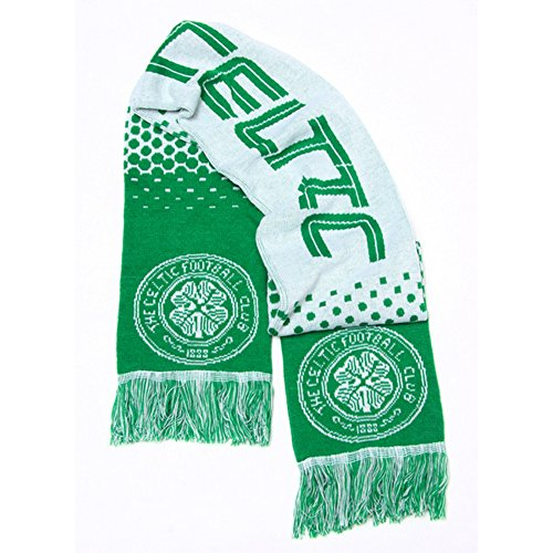 Celtic FC Official Fade Football/Soccer Crest Supporters Scarf (One Size) (Green/White)