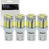 Safego 4 x LAMPADINE T10 W5W LED bianche 194 168 cuneo Tipo 10 SMD 7020 bianco LED luci dell'automobile Bulb 12V diretto Replacment e Reverse Auto RV per Interni Segnale Segnale cuneo Tipo