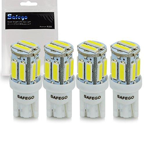 Safego Ampoules T10 LED de voiture lampe 194 168 2825 W5W 10 SMD 7020 Auto WEDGE BULBES BLANC Blanche ULTRA BRILLANT White LONGUE VIE Bulbe de remplacement pour caravane- voiture - Camion -Arrière 12V