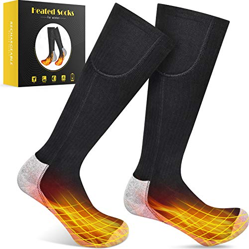 GREATSSLY Heated Socks, for Men & Women, More Than 10 Hours Continuous Heating, Rechargeable Battery...