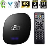 Android TV Box, Android 8.1 TV Box Amlogic S905W Quad-Core Cortex-A53 2 GB RAM 16 GB ROM Android Box Supporto 2.4 G WiFi Ethernet 4K 3D con telecomando