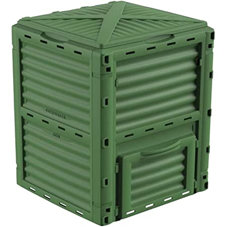 ECOgardener Garden Compost Bin. Large Outdoor Compost Container Outdoor Aerating Compost Box, Green 80 Gallon