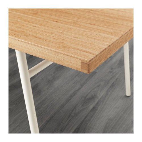 Ikea 6214.14202.1616 - Mesa de bambú, Color Blanco: Amazon.es ...
