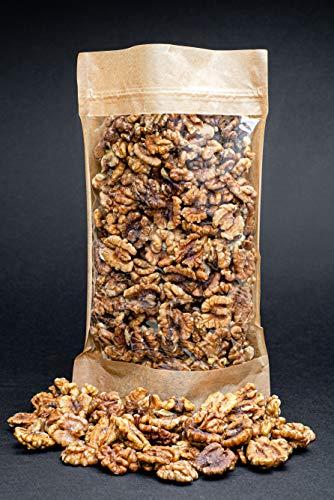 Mitades y trozos crudos de nueces crudas, libres de transgé