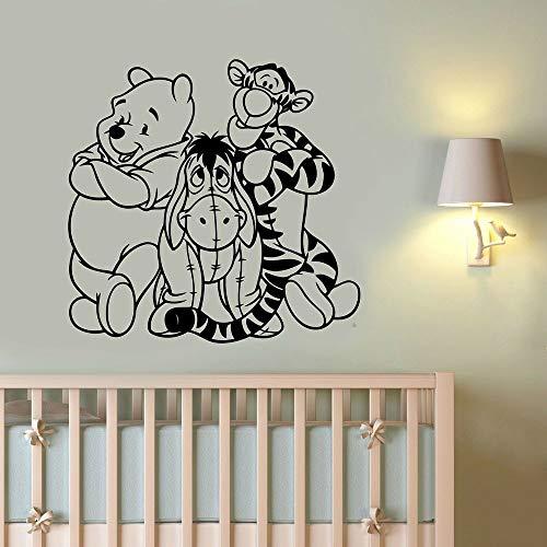 Decoración de pared kindergarten pegatinas de pared decoración del hogar pegatinas carteles anime oso decoración de la habitación