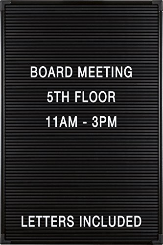 Balt Essentials Black Letter Board with Letters 12'X18' (84176)