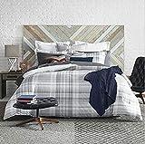 Tommy Hilfiger Parker Plaid Comforter Set, Full/Queen, Grey/White