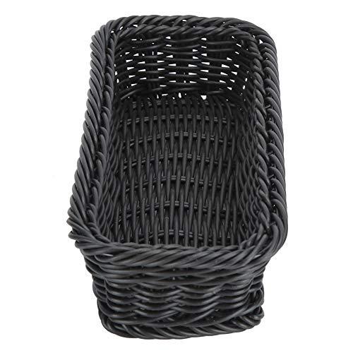 ZHHZ Tenedor para cesta – Innovadora cesta de almacenamiento de palillos restaurante escritorio vajilla tenedor cuchara titular negro tamaño S 240 x 110 x 50 mm