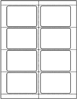 250 Sheets (2000 Labels) White Name Badge Labels, 2 1/3