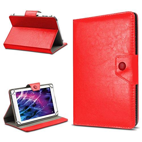 UC-Express Tablet Tasche für Medion Lifetab E6912 Hülle Hülle Schutz Cover Schutzhülle Etui Kunstleder Universal Tablettasche Standfunktion Farbauswahl, Farben:Rot
