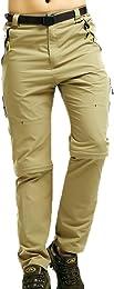 hellomiko Hommes 2 en 1 Pantalons Convertibles de
