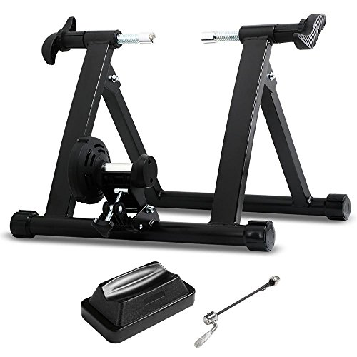 Yaheetech Entrenamiento Bicicleta Rodillo Negro para Bicicleta de 26'-28'