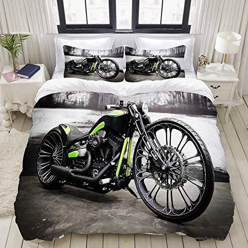 NOLYXICI Ropa de Cama - Funda nórdica,Moto Motocicleta,Microfibra
